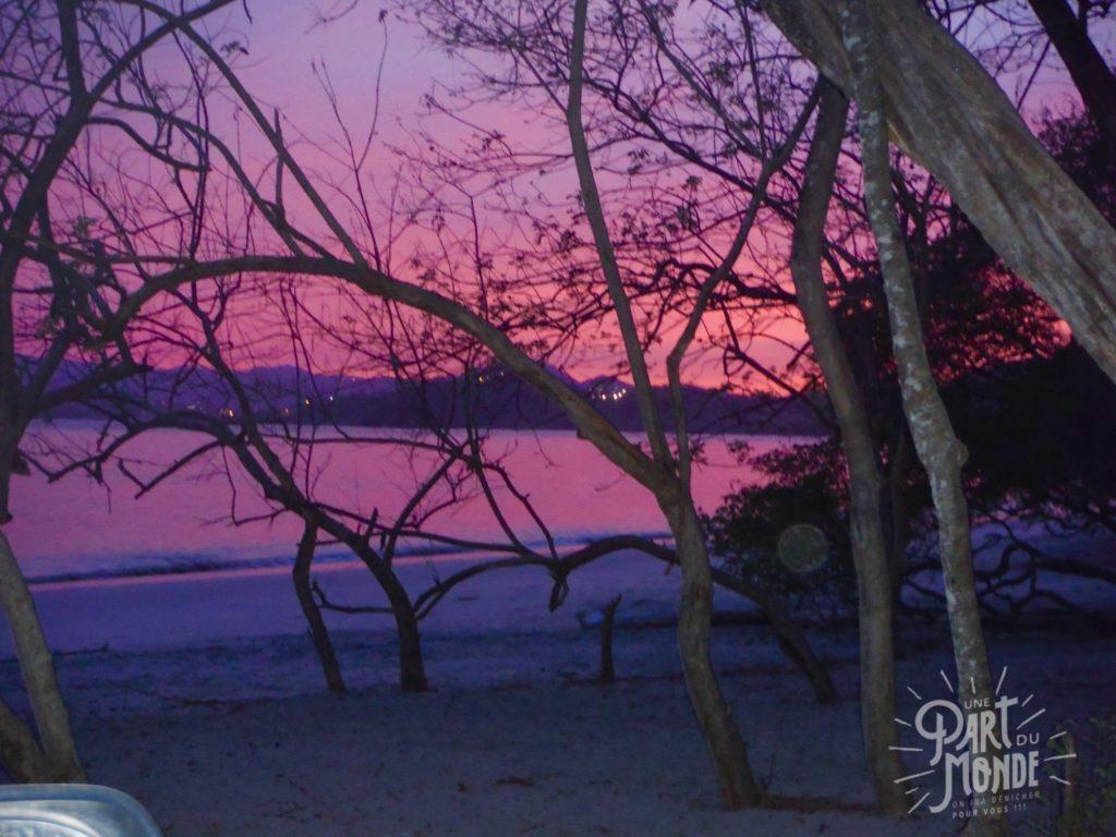 barra honda playa conchal pink sky