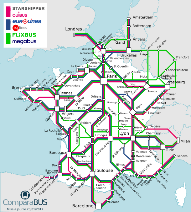 bus grand ligne france carte