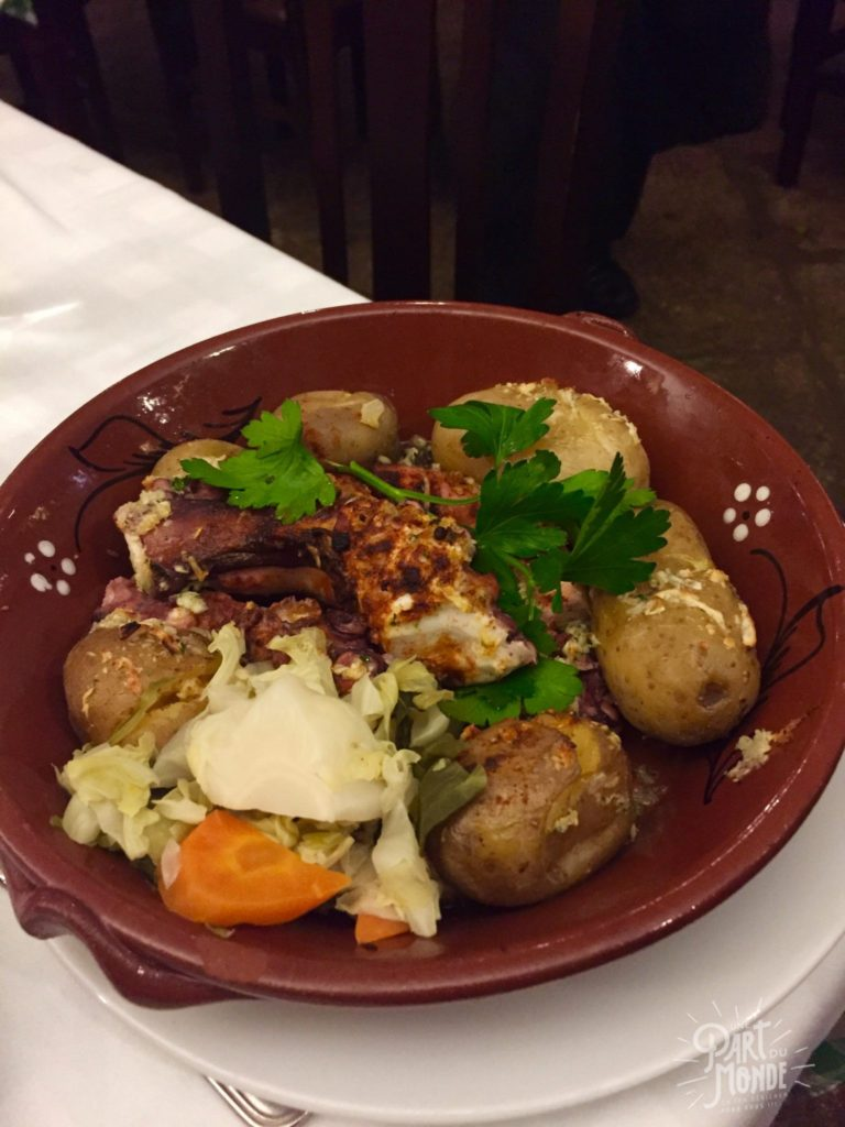 gastronomie à porto postigo do carvao - poulpe