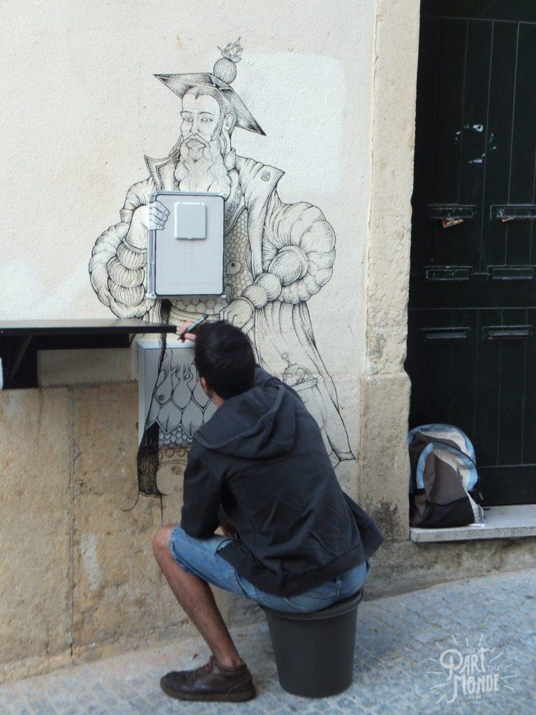 week-end à lisbonne streetartist