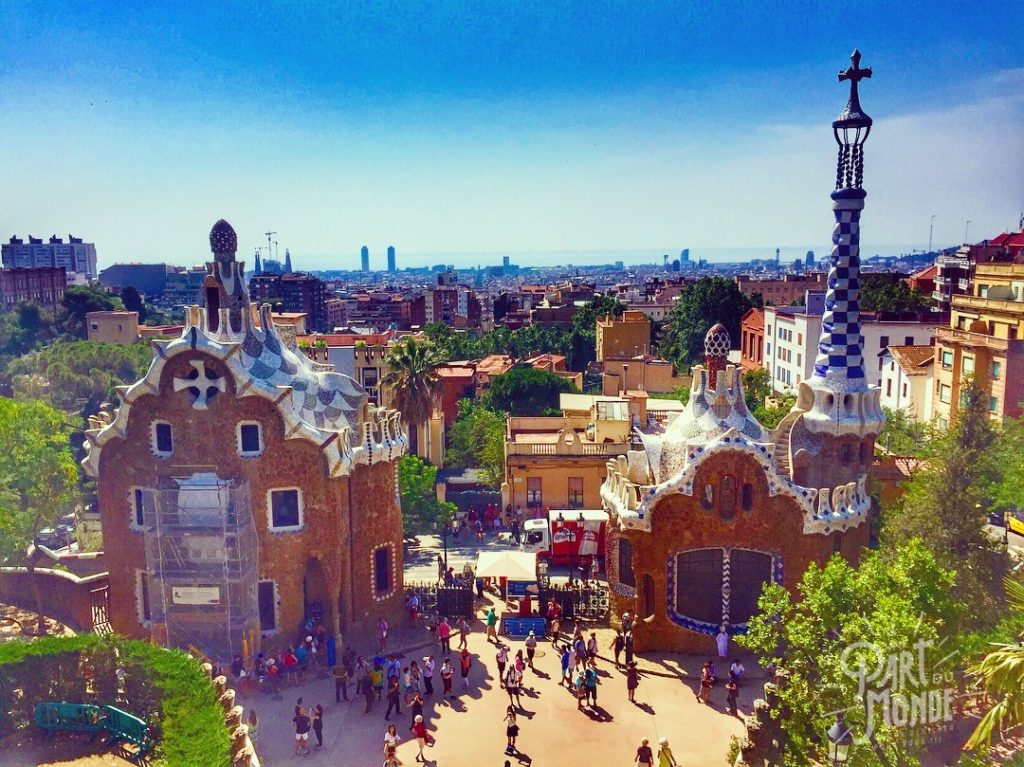 parc guell vue barcelone