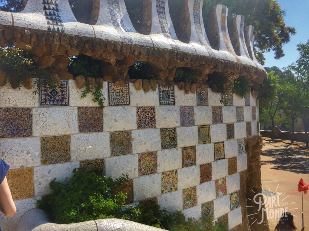 barcelone parc guell mosaique