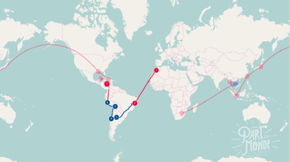 kit media une part du monde itinéraire tour du monde