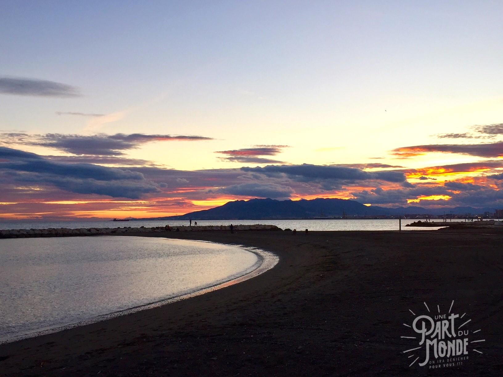 coucher de soleil malaga