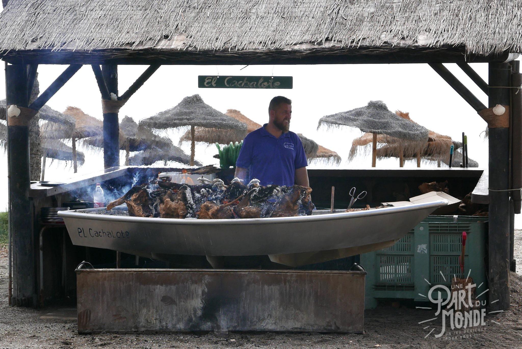 espeto de sardine cachalote malaga