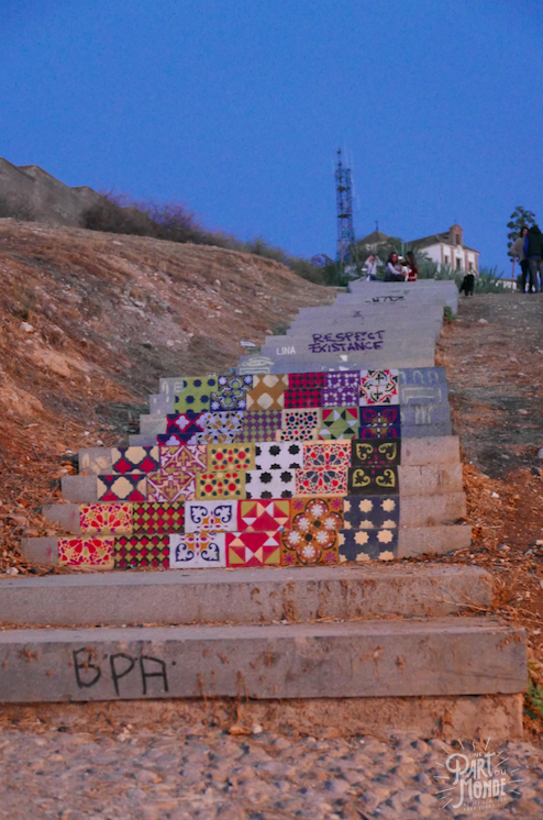escalier mirador san miguel grenade