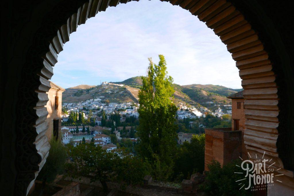 vue fenetre alhambra grenade