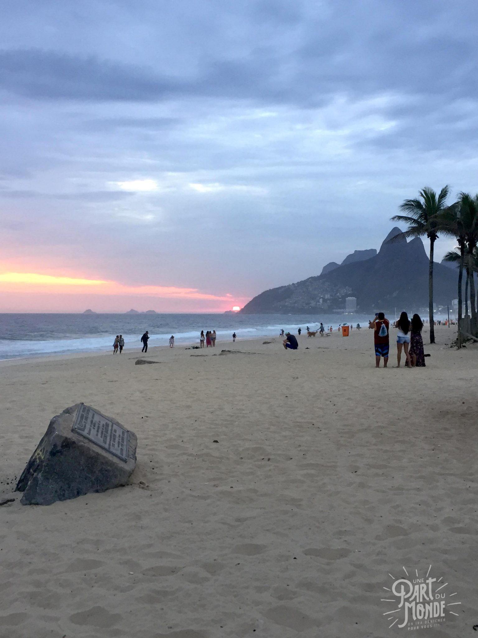 rio côté nature plage ipanema coucher soleil