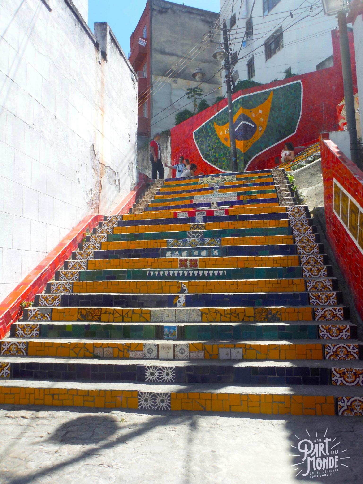 visiter rio de janeiro en 4 jours selaron escalier