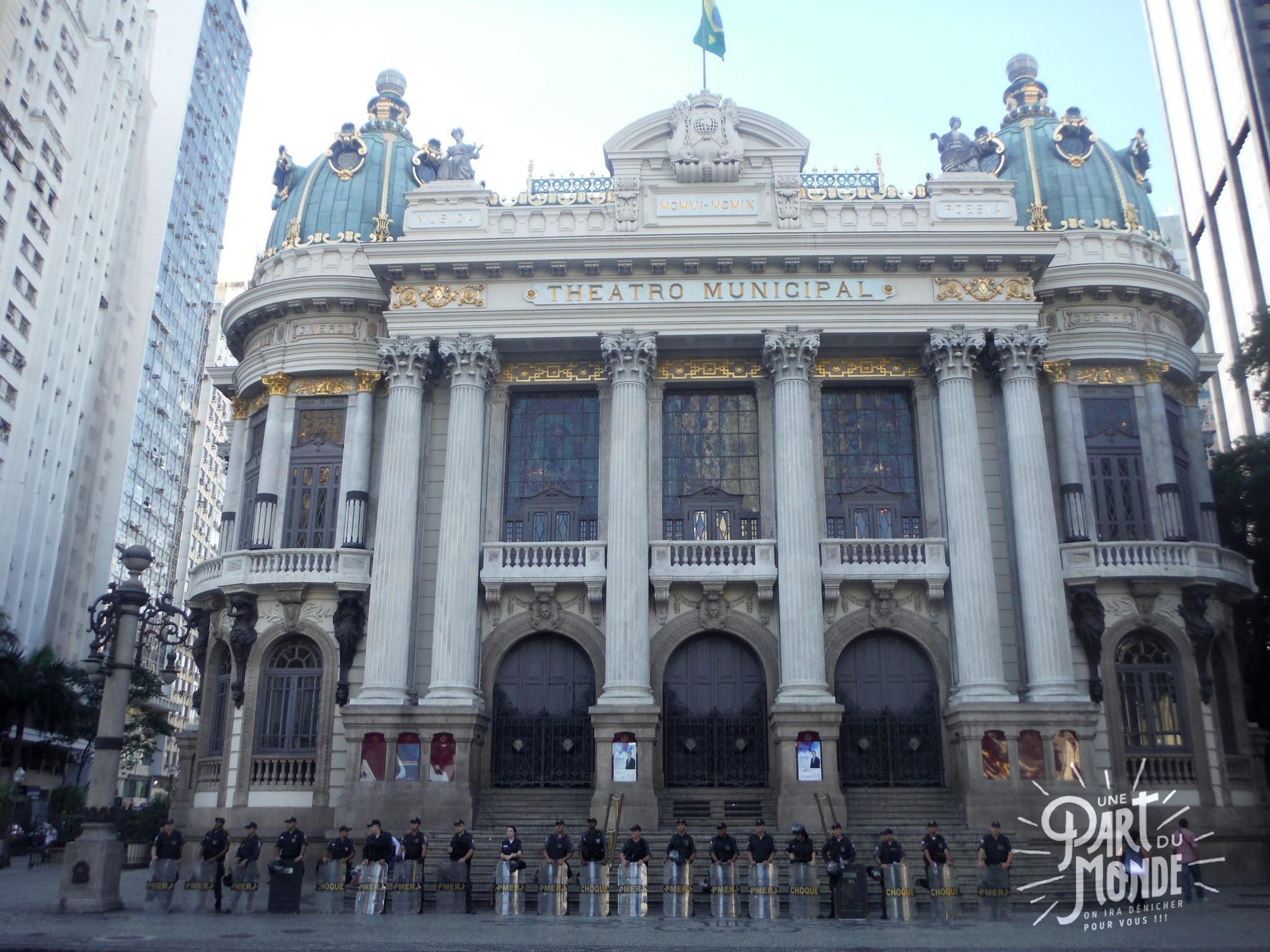 visiter rio de janeiro en 4 jours centre teatro municipal