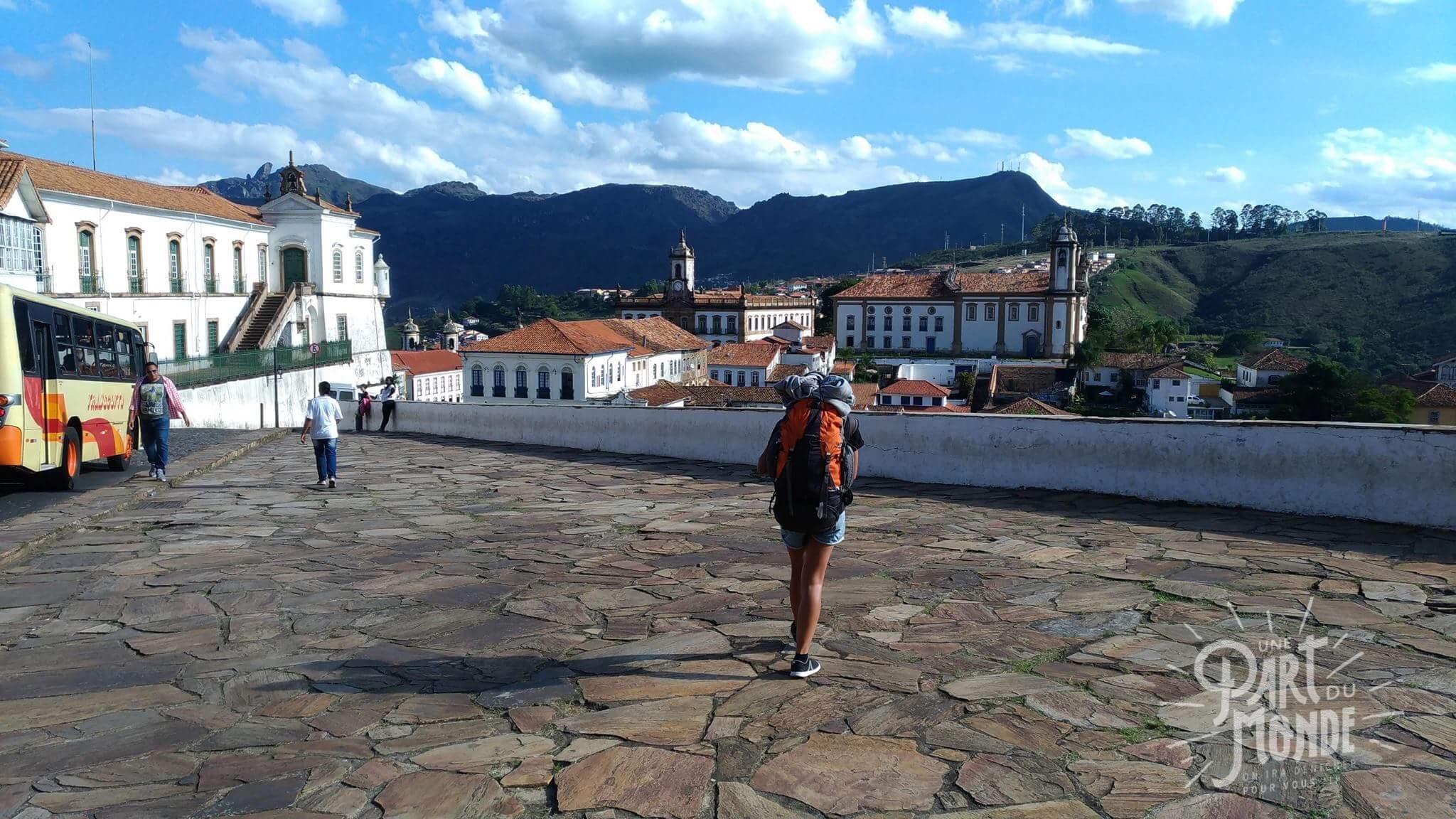 Ouro preto Minas gerais fontaine arrivée backpack