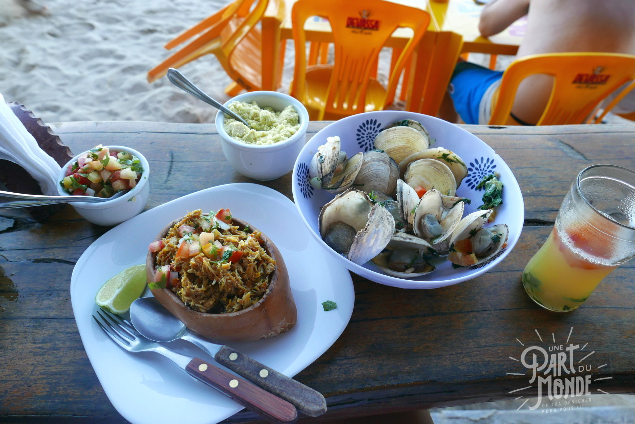 île de tinharé crabe farci palourde brésil