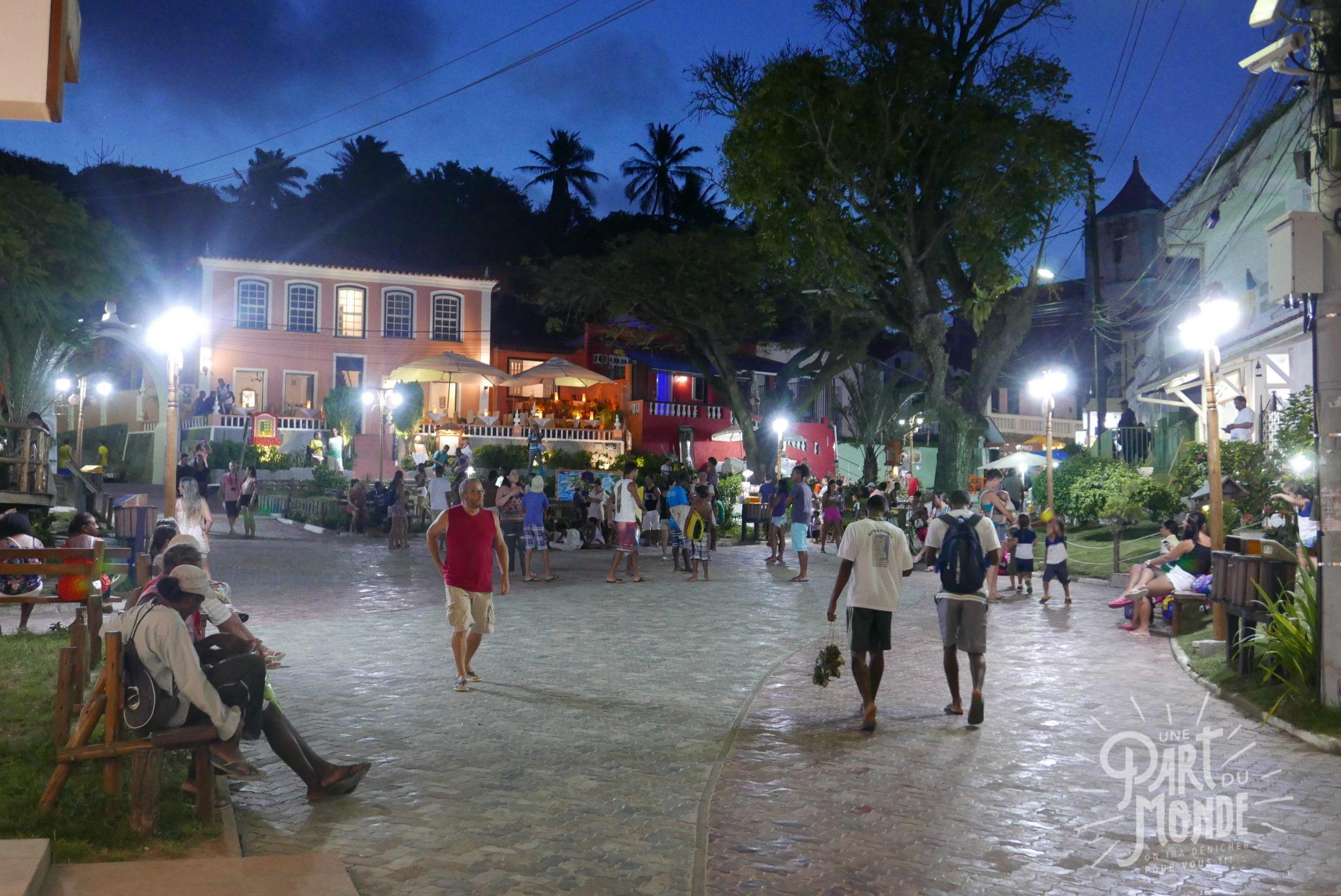 île de tinharé place centrale morro de sao paulo