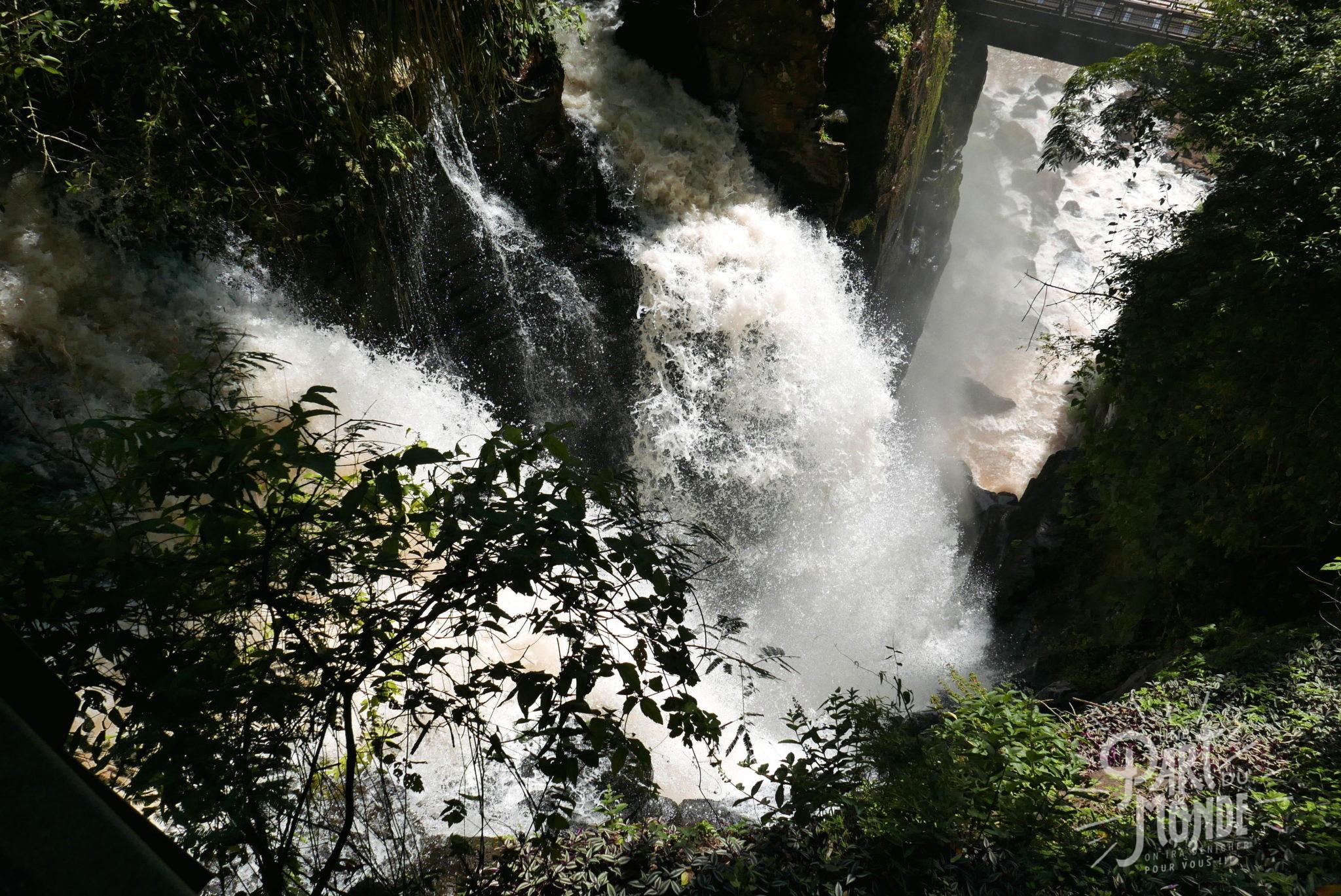 chutes d'iguazu côté argentin vue d'en haut