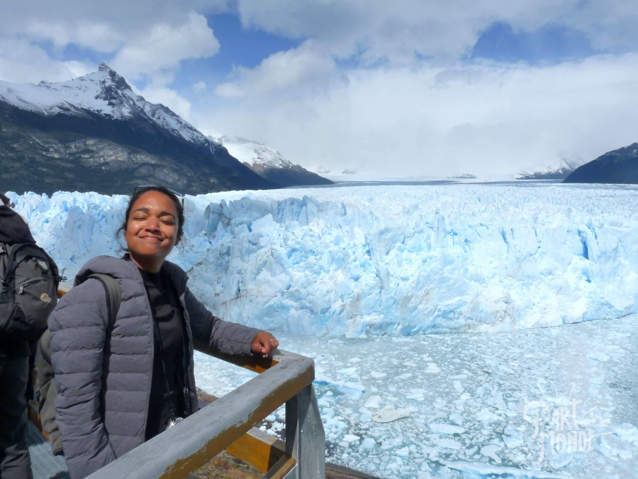 glacier perito moreno contente