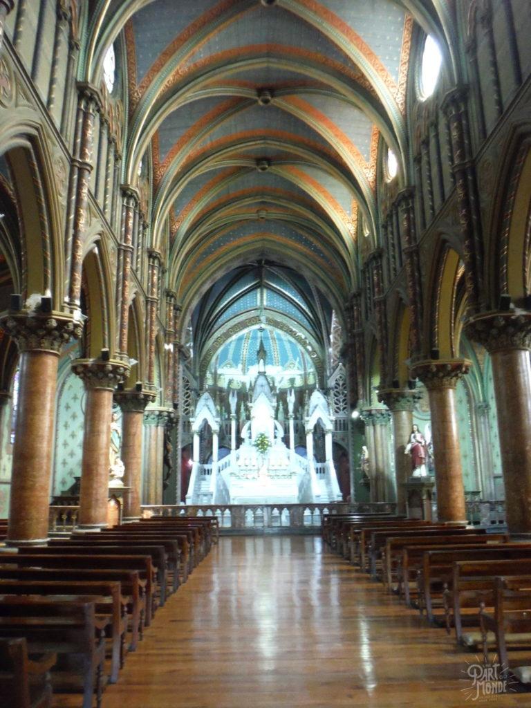 santiago du chili intérieur église