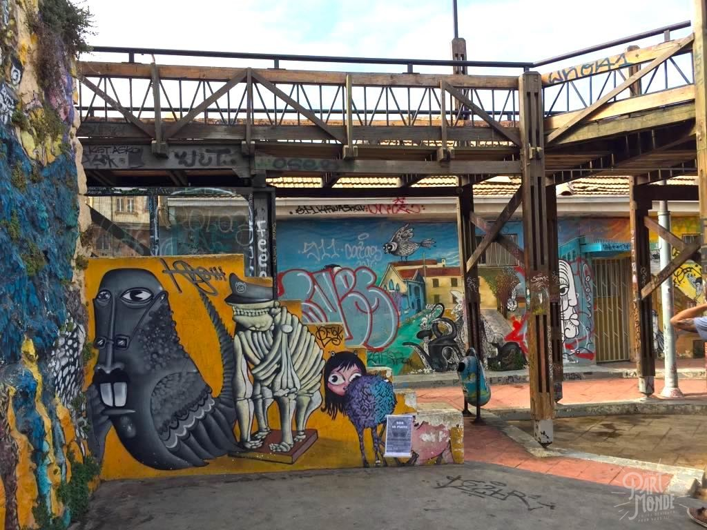 street art ascenceur victoria valparaiso