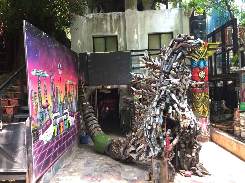 street art dinosaure ximending taipei