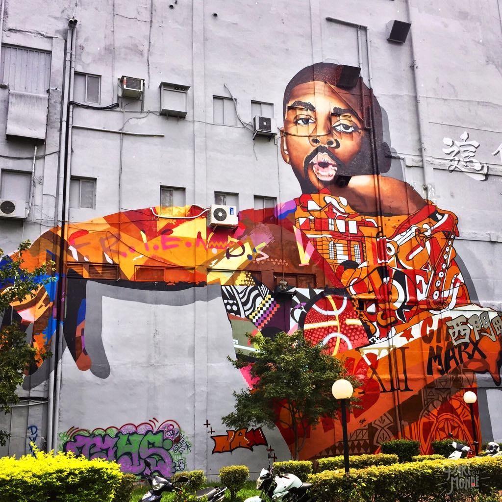 street art facade ximen taipei