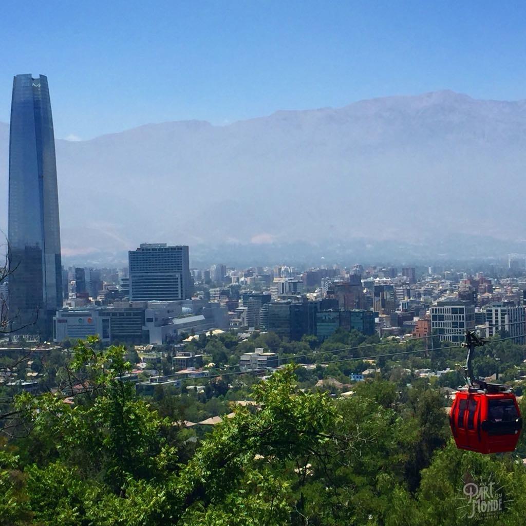 vue cerro cristobal santiago du chili