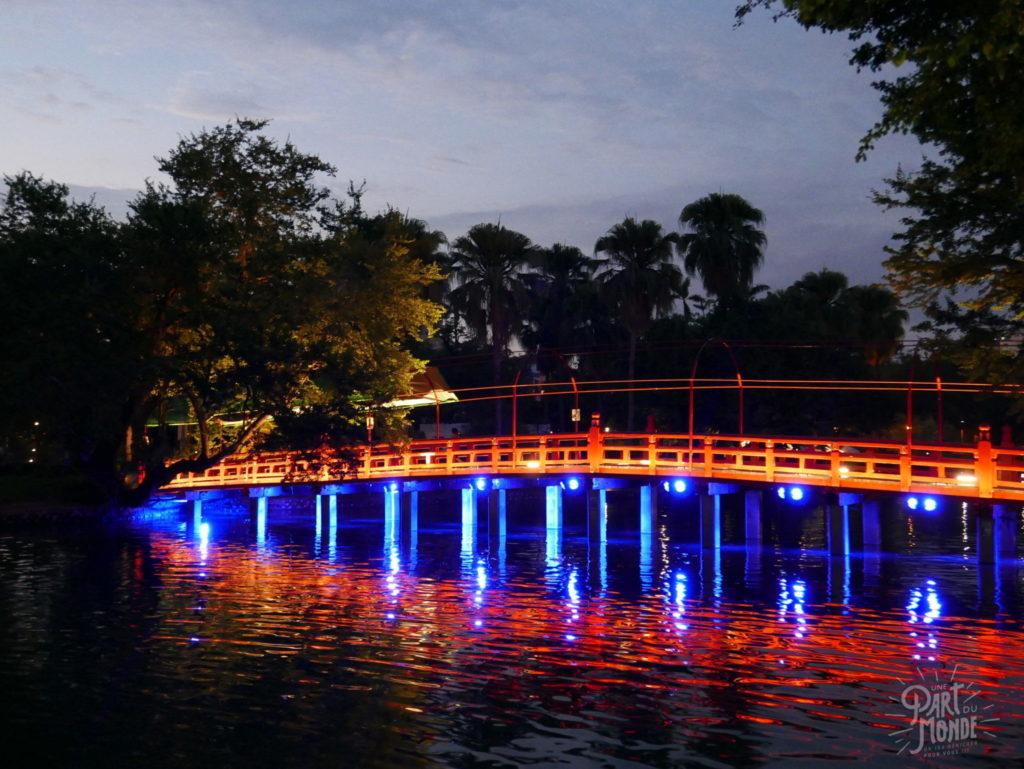 taichung park pont illuminé