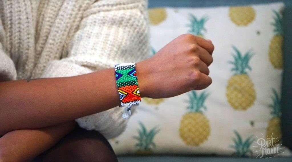 bracelet souple en perles afrique du sud