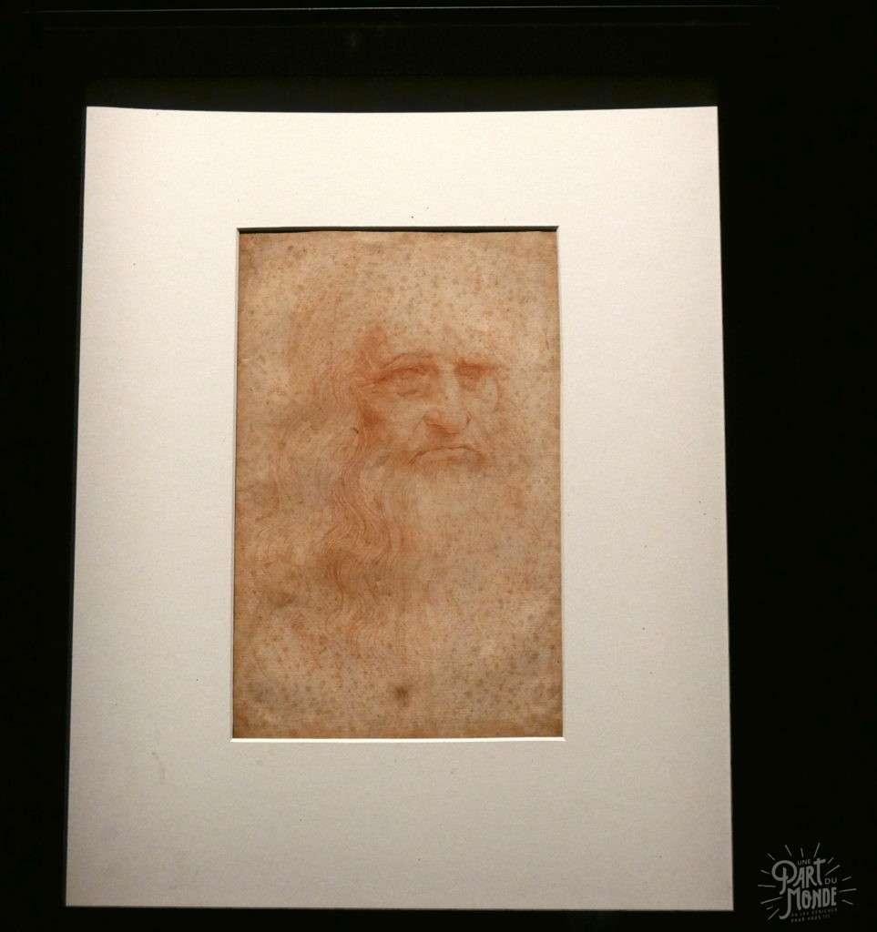 autoportrait leonard de vinci turin
