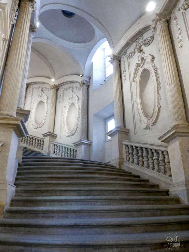 escalier palais carignano turin