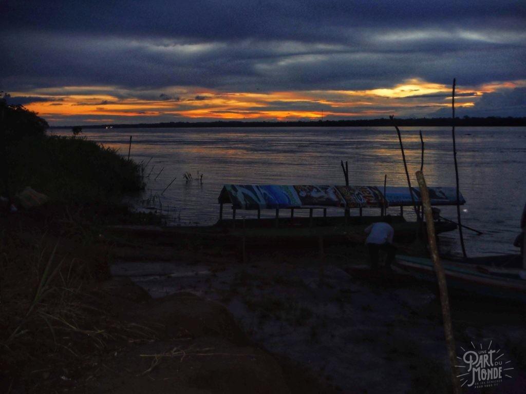 coucher de soleil amazonie