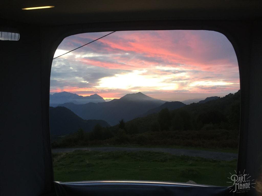 lever soleil lac de come