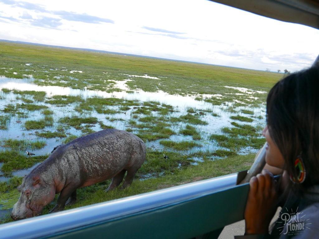 safari au kenya hippo