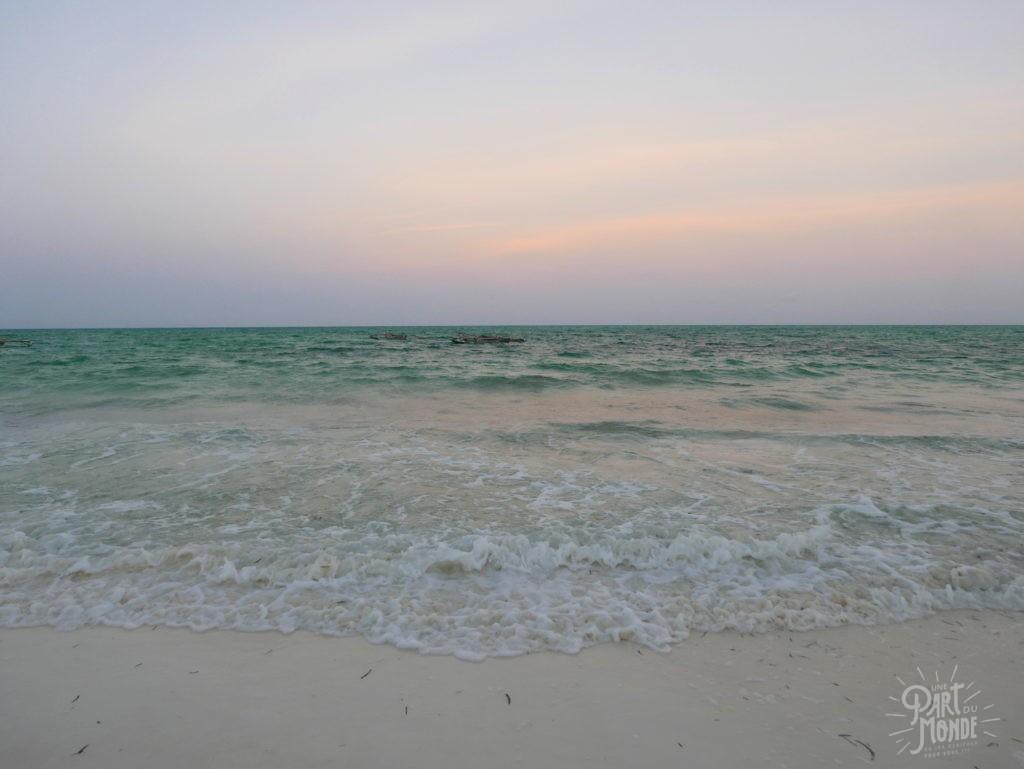 coucher du soleil plage jambiani