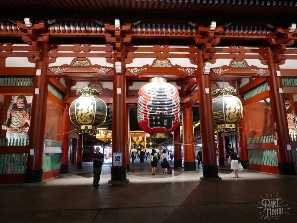 temple asakusa tokyo nuit