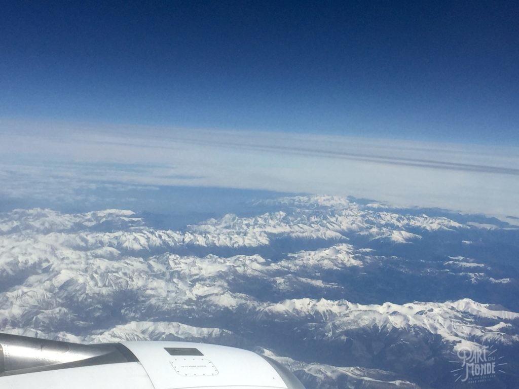 voyage et coronavirus vue avion