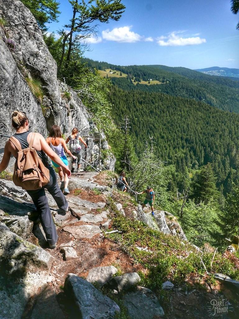 rochers des hirschsteine escaliers